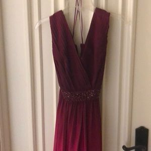 Is boutique formal dress burgundy/pink ombré
